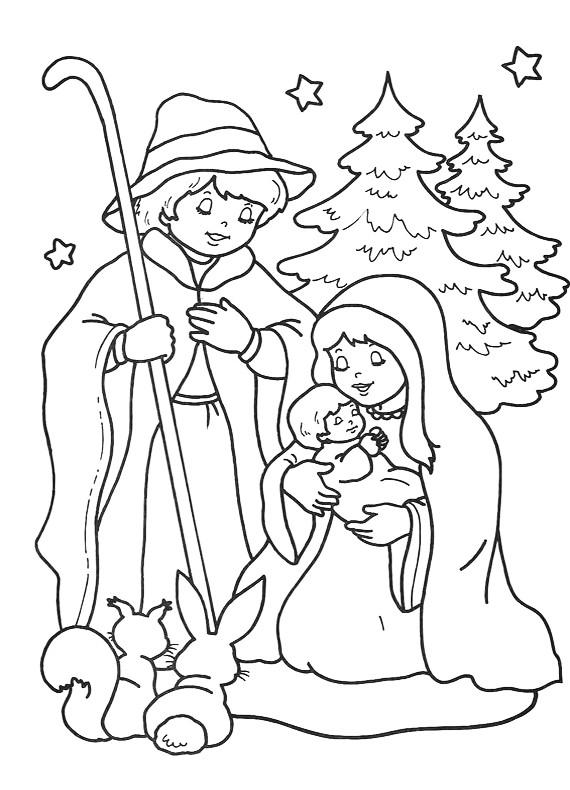 Natale presepio da stampare e colorare for Neonati da colorare e stampare