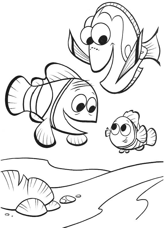 Nemo dory nemo marlin da stampare e colorare for Nemo da colorare e stampare
