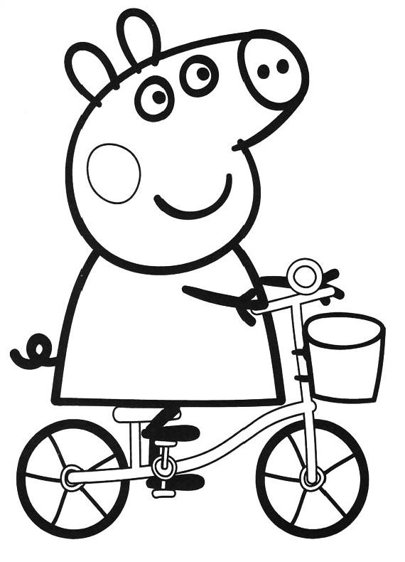 Peppa Pig Bicicletta Da Stampare E Colorare