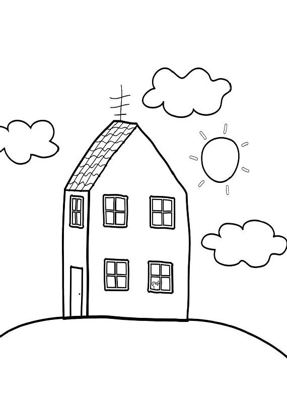 Peppa pig casa da stampare e colorare for Disegni di casa alta