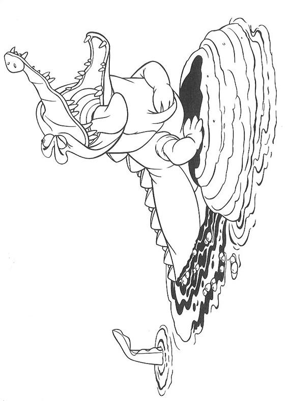 Peter pan coccodrillo da stampare e colorare for Coccodrillo da colorare