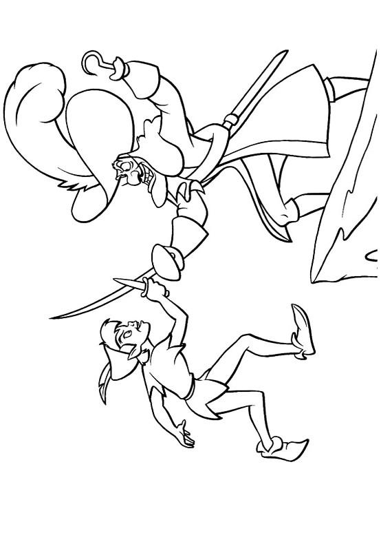 Peter Pan Contro Capitan Uncino Da Stampare E Colorare