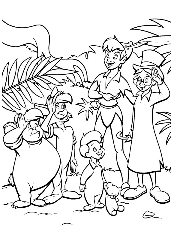 Peter pan gianni michele da stampare e colorare - Peter pan colorare pagina di colorazione ...