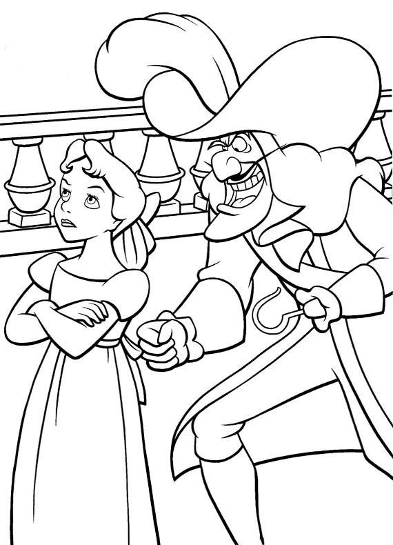 Peter pan uncino e wendy da stampare e colorare for Disegni peter pan
