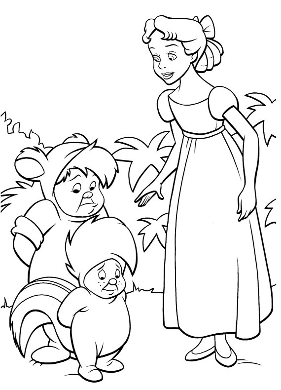 peter and wendy coloring pages - photo#9