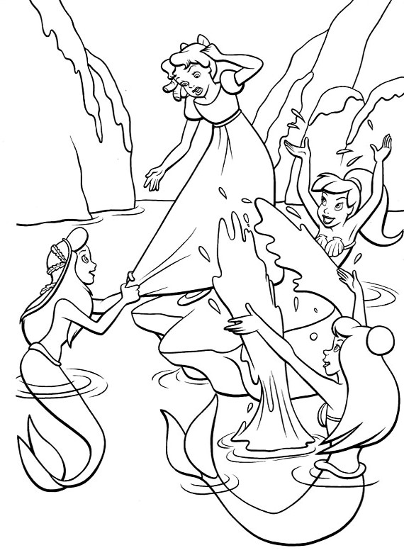 lagoon coloring pages | Disegni da Colorare di Peter Pan