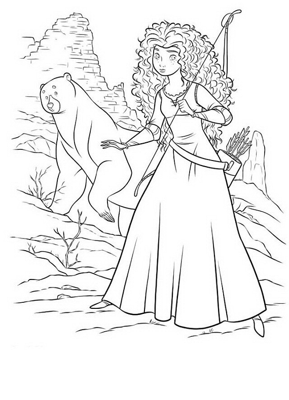 Disegni da colorare di ribelle merida the brave