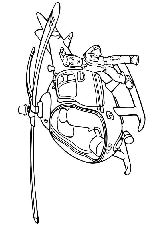 Elicottero Sam Il Pompiere : Sam il pompiere elicottero da stampare e colorare