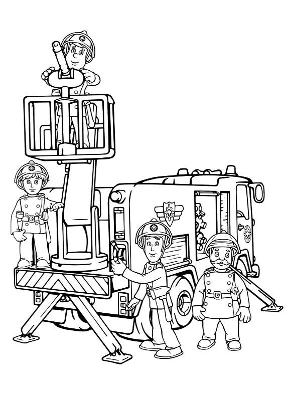 Sam il pompiere elvis trevor da stampare e colorare