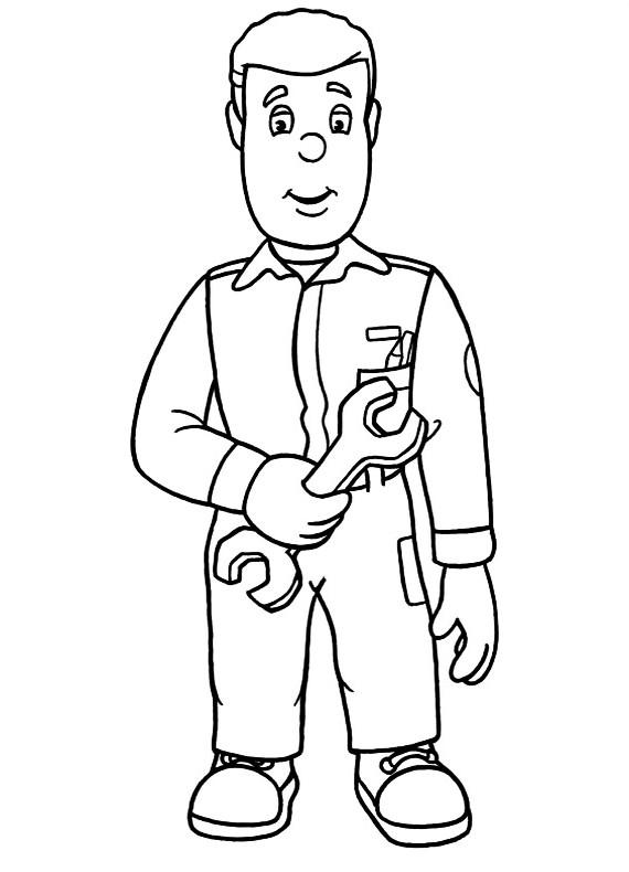 Sam il pompiere meccanico da stampare e colorare - Bambino samuel pagina da colorare ...