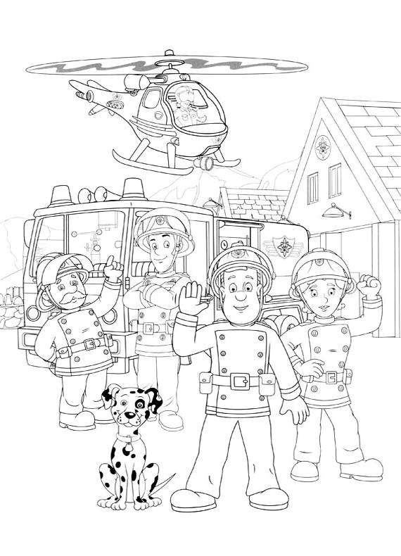 Disegni da colorare di sam il pompiere - Coloriage sam le pompier imprimer ...