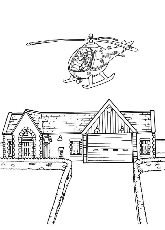 Elicottero Sam Il Pompiere : Disegni da colorare di sam il pompiere