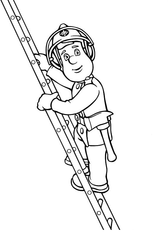 Pompiere Sam Da Colorare.Disegni Da Colorare Di Sam Il Pompiere