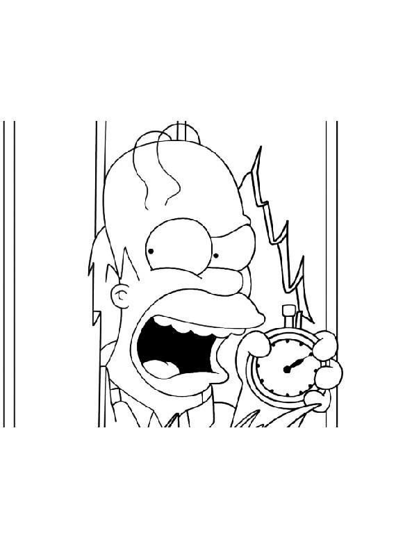 Simpsons Homer Orologio Da Stampare E Colorare