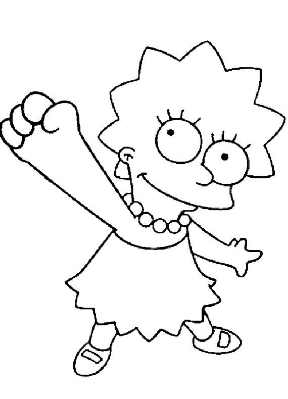 Disegni da colorare di simpsons for Lisa simpson coloring pages