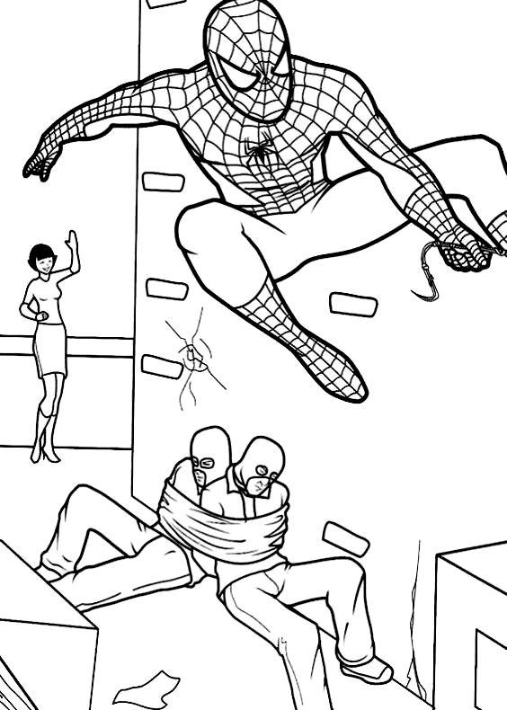 Disegni di uomo ragno da colorare per bambini con uomo for Disegni da colorare uomo ragno