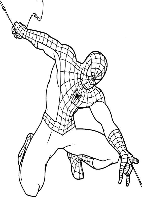 Disegni da colorare di spiderman uomo ragno for Spiderman da colorare on line