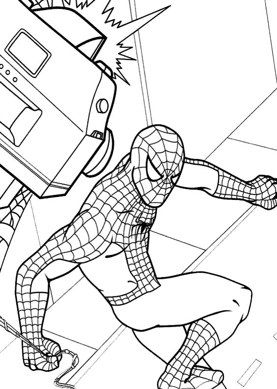 Disegni da colorare di spiderman uomo ragno for Spiderman da colorare per bambini