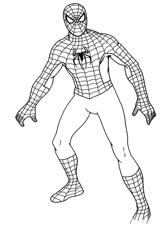 Disegni da colorare di spiderman uomo ragno for Disegni spiderman da colorare