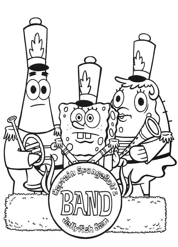 Spongebob banda da stampare e colorare for Disegni spongebob