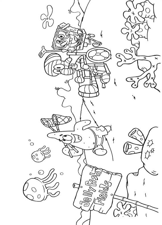 Spongebob patrick squiddi da stampare e colorare for Disegni spongebob