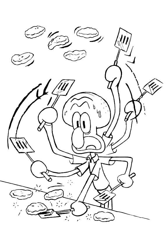 Spongebob squiddi lavora da stampare e colorare for Spongebob da disegnare