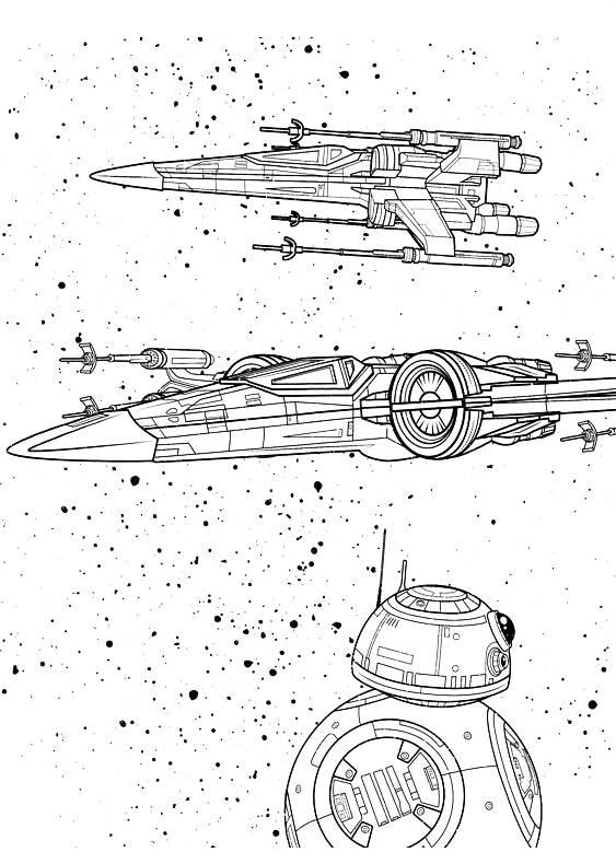 disegni da colorare sul computer di star wars