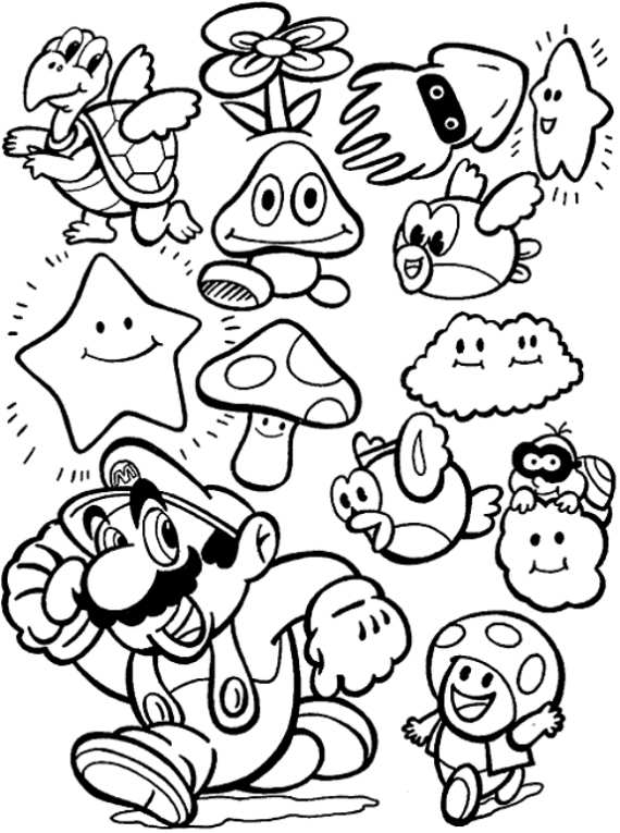 Disegni da colorare di super mario for Disegni da colorare super mario bros