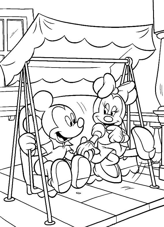 Topolino Con Minnie da stampare