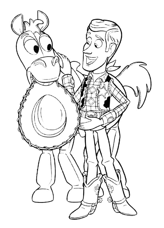 toy story coloring pages bullseye - photo#22