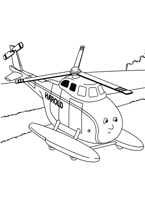 Trenino Thomas Harold Elicottero Da Stampare E Colorare