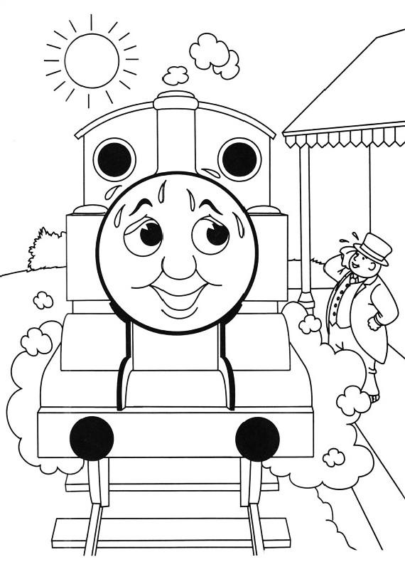 Disegni Da Colorare Di Trenino Thomas