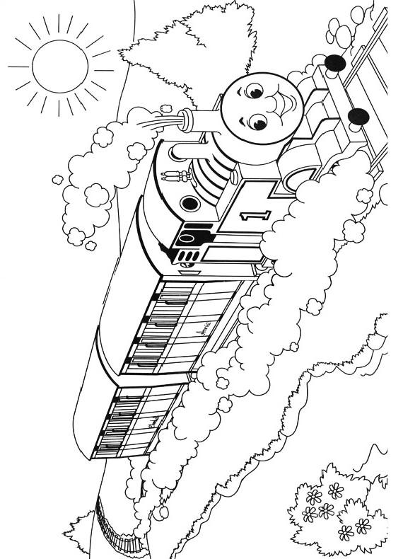 Disegni da colorare di trenino thomas - Stampare pagine da colorare ...