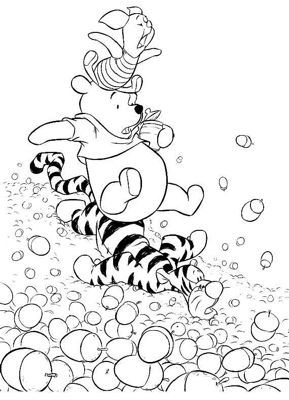 Winnie Pooh Winnie Tigro Pimpi Da Stampare E Colorare