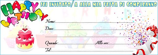 Famoso Inviti di Compleanno per Bambini SO89