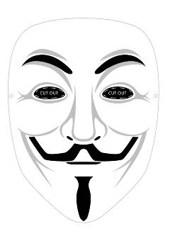 V For Vendetta Mask Drawing Maschere da Stampare e...