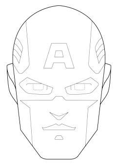 Maschera Di Capitan America Da Stampare E Colorare Maschere