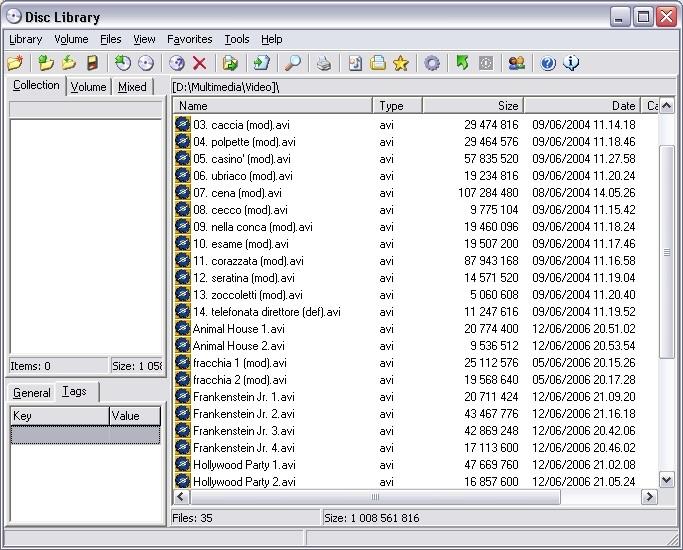 Programma per l'archiviazione dei DVD - estrae le metainformazioni ...