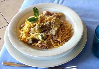 Ricetta tagliatelle carciofi e salsiccia for Siti di ricette cucina